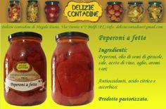 Peperoni a fette in olio di semi   Delizie Contadine