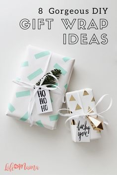 If you're looking to break away from the traditional reindeer and Santa wrapping paper this holiday season, look no further than these gorgeous DIY gift wrap ideas.
