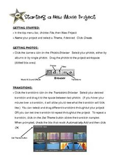 Handout for iMovie (FREE)