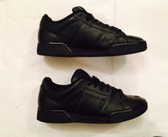 beedcfa422c Details about Men s Reebok Classic All Black Workout Trainers Size 7 UK  Leather VGC