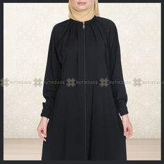 Omzu Pileli Taşlı Ferace Siyah Cold Shoulder Dress, Dresses With Sleeves, Long Sleeve, Fashion, Hijab Dress, Moda, Full Sleeves, La Mode, Gowns With Sleeves