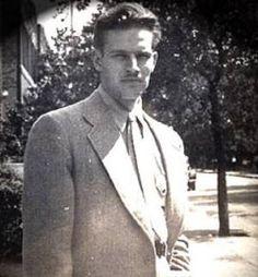 Charlton Heston, as a 19-year-old student at Northwestern University, Evanston, Illinois, in the 1940s.