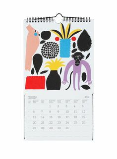 Wall calendar (year 2014) |Décor, Office, Miscellaneous | Marimekko