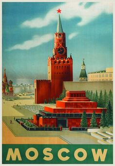 Moscow, USSR vintage poster
