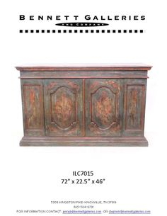 Hand painted Italian sideboard. Available only at Bennett Galleries!