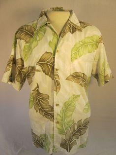 QUIKSILVER COMFORT FIT Multi-color COTTON FLORAL HAWAIIAN Shirt Mens Large #QuickSilver #Hawaiian