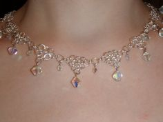 White Queen of Wonderland Chainmalle Necklace by DrakonsLair