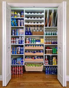 Organisieren Speisekammer dosen regale idee