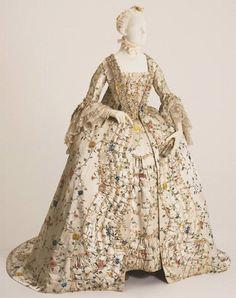 Robe à la Française, circa 1755