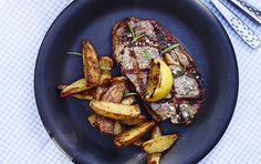 Biffer med potet og wstragon-majones