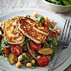 Roasted Tomato, Chickpea & Halloumi Salad - from Lakeland Best recipes