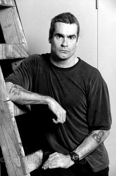 Portrait of monologist Henry Rollins by photographer Dan Dion.