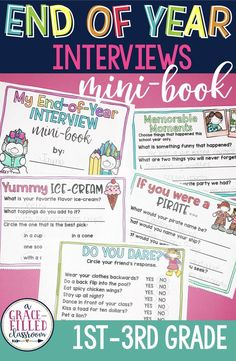 An end of year mini-book for students to spend time with their friends the last few days of school.