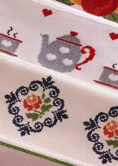 This Pin was discovered by Nur 123 Cross Stitch, Cross Stitch Kitchen, Cross Stitch Borders, Modern Cross Stitch, Cross Stitch Flowers, Cross Stitching, Cross Stitch Embroidery, Embroidery Patterns, Cross Stitch Patterns