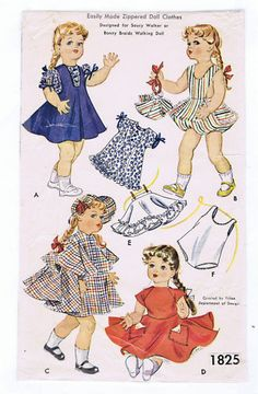 "18"" Vintage Year 1953 Chubby Doll Pattern 1825"