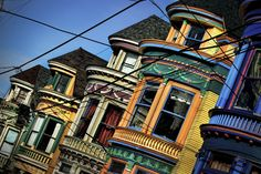 It's as if someone dipped a brush in rainbow paint and spread it across the city of San Francisco, California. Explore photographs of Painted Ladies and learn their history.