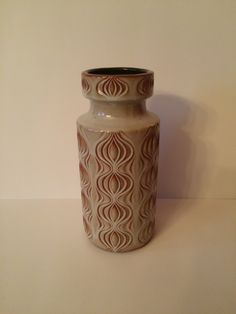 West German Pottery Vase Onion Pattern