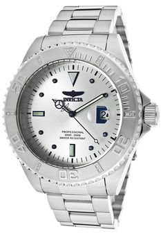 Invicta Men's Pro Diver Diamond Stainless Steel Silver-Tone Dial - Watch 12816,    #Invicta,    #12816,    #WatchesDiverQuartz