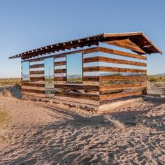 American artist Phillip K Smith III has added mirrors to the walls of a desert shack in California to create the illusion that you can see right through the building.