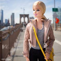 barbiestyle · Brooklyn Bridge Heading to Brooklyn Bridge Park for Sunday #Smorgasburg! #barbie #barbiestyle