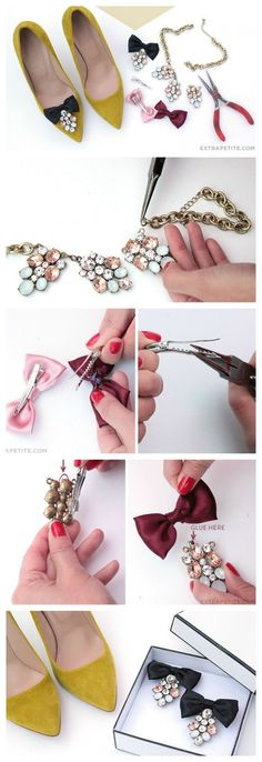 DIY Shoe Clip Ideas are the simple and stylish clips that you can made by your hand easily for your footwear customization. - lingerie, sensual, bustier, luxury, red, honeymoon lingerie *ad