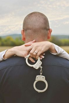 Police Officer Handcuff Engagement photography https://www.facebook.com/LaceySwearingenPhotography