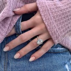 Engagement Sets, Halo Engagement Rings, Engagement Ring Settings, Types Of Diamond Cuts, Anniversary Gifts, Wedding Anniversary, White Gold Rings, Semi Precious Gemstones, Ring Designs