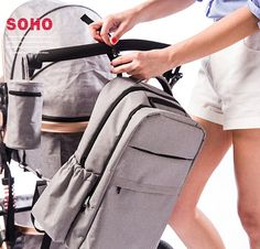 2016 Newest Fashion Unisex Concise Large Capacity High Quality Waterproof Nappy Changing Diaper Bags Backpack Baby Stroller Bag #Affiliate
