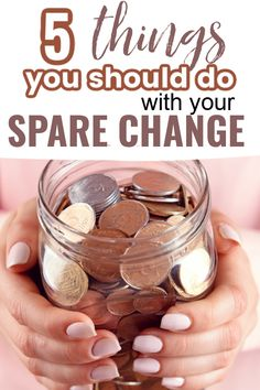 When you use a cash budget, you tend to accumulate a lot of change. Check out these 5 Ideas for what to do with your spare change {other than just keeping it in a jar}. It's perfect for boosting your savings! Saving Coins, Coins Worth Money, Coin Worth, Done With You, Saving Money, Random Stuff, Things To Do, Budget, Jar
