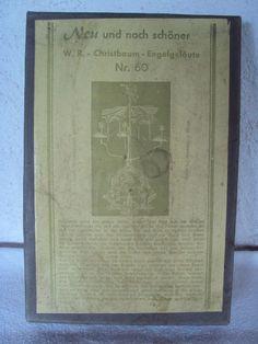 Stock Engelsgeläut Blech Klingelpyramide Glockenspiel Christbaumspitze 50 er OVP