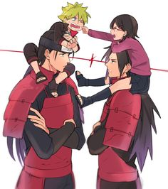 This is cool. Hashirama and Bolt with Madara and Sarada.