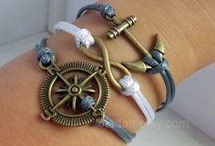 Guideline bracelet  bronze compass direction infinite by Jiadan, $9.99