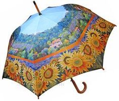 Tuscan Umbrella with beautiful print by Artist Marie Gabrielle