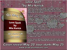 Sounds good!  And there is a contest: http://parkerwilliamsauthor.com/wordpress/love-spell-cover-reveal/