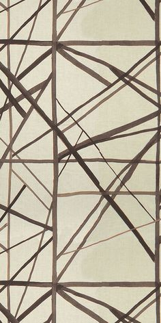 KELLY WEARSTLER | CHANNELS FABRIC. Linen fabric in Taupe/Ivory