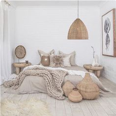 17 Scandinavian Bedroom Designs That Will Thrill You is part of Scandinavian design bedroom - Today we present some beautiful pictures of Scandinavianstyle bedrooms Scandinavian style in the interior is primarily mix of simplicity, functionality Room Design, Home Bedroom, Neutral Bedroom Decor, Bedroom Interior, Home Decor, House Interior, Apartment Decor, Room Decor, Scandinavian Design Bedroom