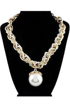 Oversized Pearl Choker - OASAP.com