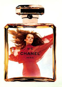 Avenue (Dutch) October 1976  Jean Shrimpton by Helmut Newton  Chanel N°5