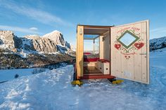 This tiny starlight room, nestled high in the Dolomite Mountains of northeast Italy, will blow you away with its expansive views of the heavens. With glass walls, you are at...