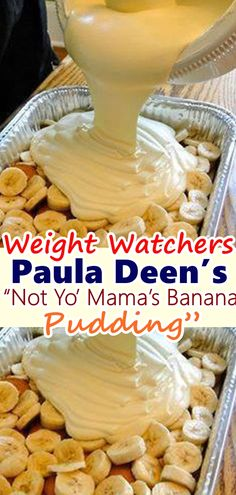 The title of this recipe is so fitting! This is the best banana pudding I've ever had! This comes from Paula Deen's The Lady and Sons Just Desserts . Ww Desserts, Weight Watchers Desserts, Delicious Desserts, Dessert Recipes, Yummy Food, Light Desserts, Best Banana Pudding, Banana Pudding Recipes, Homemade Banana Pudding Recipe Paula Deen
