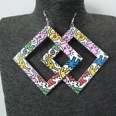 Crazy Square Multi Colored Earrings 80's Style    Material: Acrylic     Color: Multi    Size: 7.7cm    ** Please allow 2-3 weeks for shipping* | Shop this product here: spreesy.com/hearterectiondesigns/10 | Shop all of our products at http://spreesy.com/hearterectiondesigns    | Pinterest selling powered by Spreesy.com
