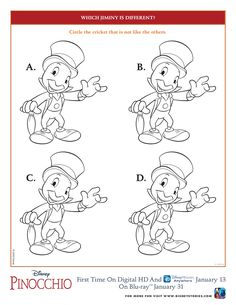 Make Your Wish Come True With These Free Printable Pinocchio Coloring Pages And Activity Sheets