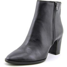 Ash Farah Ankle Boot Women Dress ($236) ❤ liked on Polyvore featuring shoes, boots, ankle booties, black, black booties, leather bootie, black ankle booties, black bootie boots and short leather boots