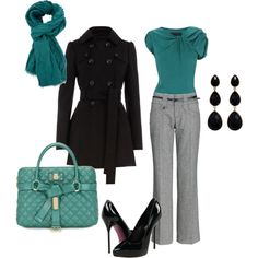 Cute! Except I wouldn't wear heels that high.  Work outfit, created by headydawn on Polyvore