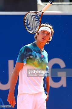 Alexander Zverev of Germany reacts during his quater final match against David Goffin of Belgium of the BMW Open at Iphitos tennis club on April 29, 2016 in Munich, Germany.