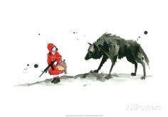 Le petit chaperon rouge Affiche par Lora Zombie sur AllPosters.fr