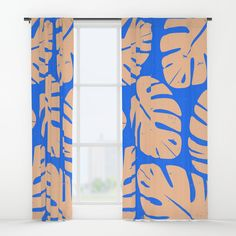 Monstera Leaf Print 5 Window Curtains by Lynette Carson. Worldwide shipping available at Society6.com. Just one of millions of high quality products available.