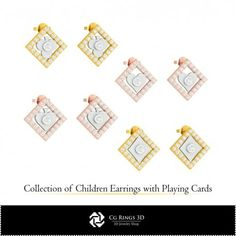 CAD Collection of Children Earrings with Playing Cards Cad Services, 3d Cad Models, Kids Earrings, Business Networking, Jewelry Collection, Playing Cards, Collections, Children, Stuff To Buy