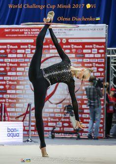 Olena DIACHENKO (Ukraine) ~ Hoop @ World Challenge Cup Minsk - 05-06/08/'17 ☘☘  Photographer Kate Ianiuk.