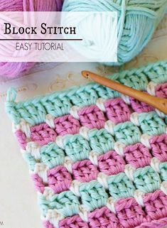 How To: Crochet The Block Stitch - Easy Tutorial My favorite blanket pattern Knit Or Crochet, Crochet Crafts, Crochet Projects, Crochet Tutorials, Crochet Block Stitch, Chunky Crochet Blankets, Crochet Blanket Stitches, Crotchet Blanket Patterns, Chunky Crochet Blanket Pattern Free